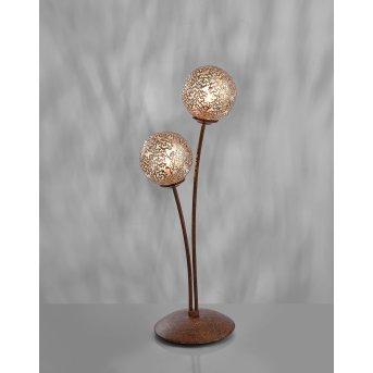Paul Neuhaus GRETA Lampa stołowa Rudy, 2-punktowe