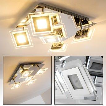 Cerreto lampa sufitowa LED Chrom, 5-punktowe