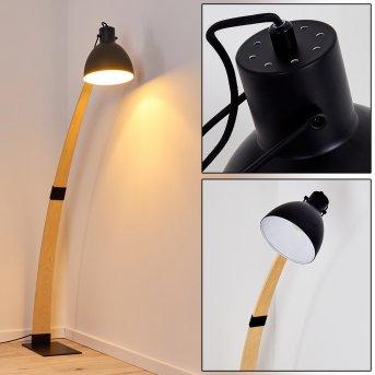 Higashi Lampa Stojąca Czarny, Jasne drewno, 1-punktowy
