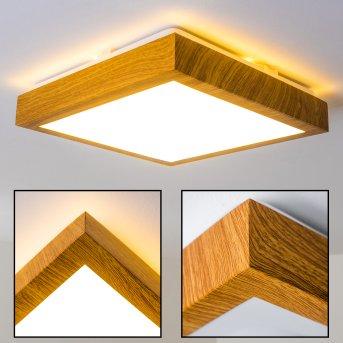 Sora Wood Lampa Sufitowa LED Jasne drewno, 1-punktowy