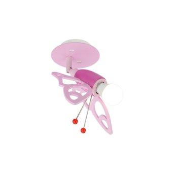 Elobra FALTER Lampa Sufitowa Różowy, 1-punktowy