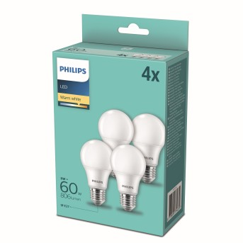 Philips LED zestaw 4 x E27 9 Watt 2700 Kelvin 806 Lumen