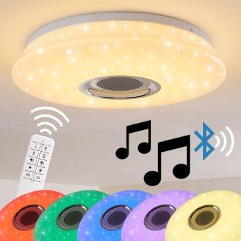 HEMLO lampa sufitowa LED Biały, 1-punktowy, Zdalne sterowanie, Zmieniacz kolorów