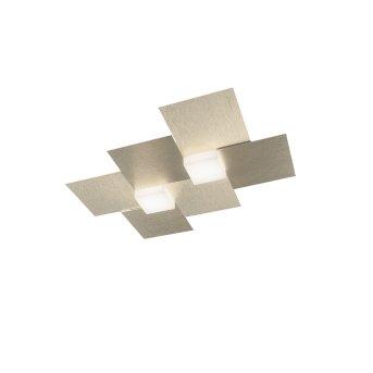 Grossmann Creo Lampa ścienna LED W kolorze szampana, 2-punktowe