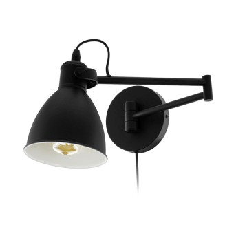 Eglo SAN PERI Lampa ścienna Czarny, 1-punktowy