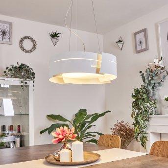 Novara lampa wisząca Biały, 3-punktowe
