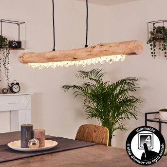 Calumet Lampa Wisząca LED Czarny, Brązowy, 1-punktowy