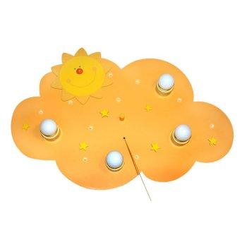 Waldi Sonne lampa sufitowa Żółty, 4-punktowe