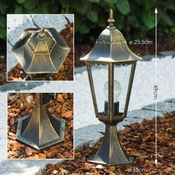 Hongkong Lampa na cokół Złoty, Brązowy, 1-punktowy
