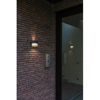 Lutec Lotus Zewnętrzny kinkiet LED Antracytowy, 1-punktowy