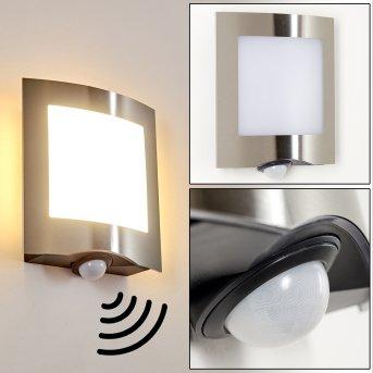 Zewnętrzny kinkiet Meja LED Antracytowy, 1-punktowy, Czujnik ruchu