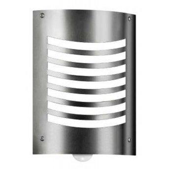CMD Aqua Smile Lampa ścienna Stal nierdzewna, 1-punktowy, Czujnik ruchu