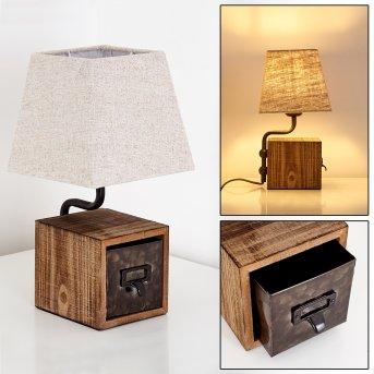 Banister Lampa stołowa Rudy, Brązowy, 1-punktowy