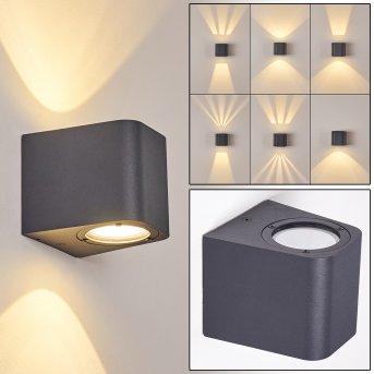 Maputo Zewnętrzny kinkiet LED Antracytowy, 2-punktowe