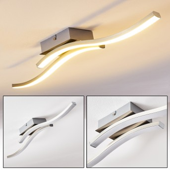 Letala Lampa Sufitowa LED Nikiel matowy, Chrom, 2-punktowe