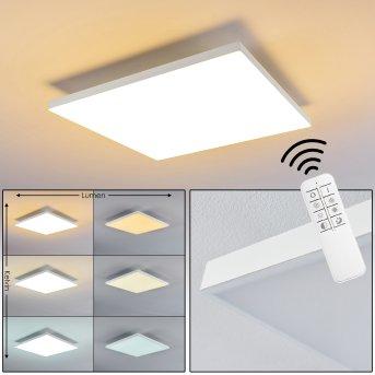 Salmi Lampa Sufitowa LED Biały, 1-punktowy, Zdalne sterowanie