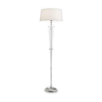 Ideal Lux FORCOLA Lampa Stojąca Chrom, Przezroczysty, 1-punktowy