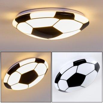 Sakka Lampa Sufitowa LED Czarny, Biały, 1-punktowy