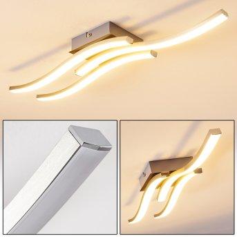 Letala Lampa Sufitowa LED Nikiel matowy, Chrom, 3-punktowe