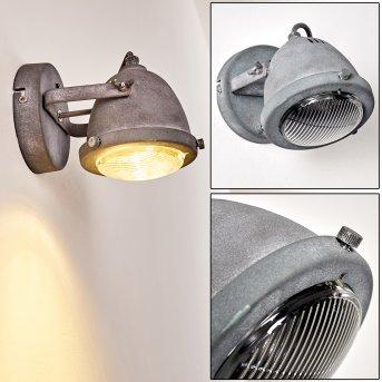 Glostrup Lampa ścienna LED Siwy, 1-punktowy