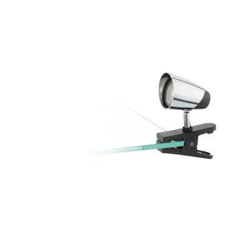 Eglo MONCALVIO lampa z klipsem LED Chrom, Czarny, 1-punktowy