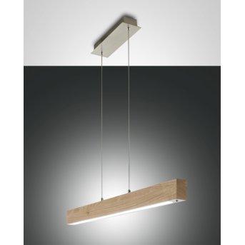 Fabas Luce Badia Lampa Wisząca LED Jasne drewno, 1-punktowy