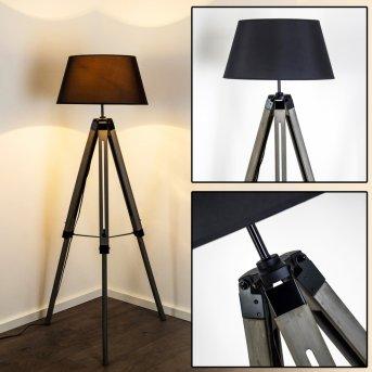 LEKERIKA lampa stojąca Czarny, Siwy, 1-punktowy
