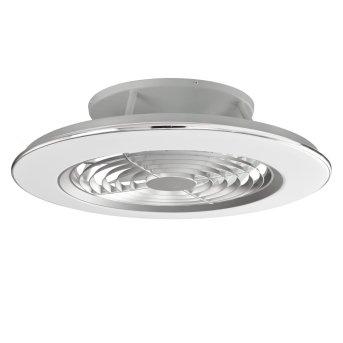wentylator sufitowy Mantra ALISIO LED Chrom, Siwy, 1-punktowy, Zdalne sterowanie