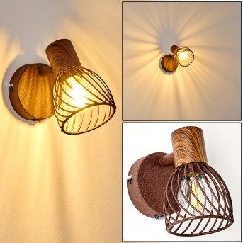 Lampa ścienna Arjen Rudy, Ciemne drewno, 1-punktowy
