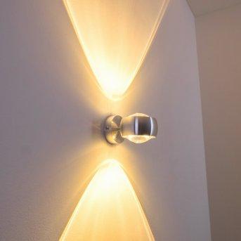 Sapri lampa ścienna Srebrny, 1-punktowy