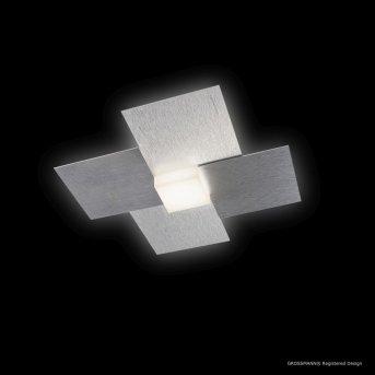Grossmann CREO Oświetlenie ścienne i sufitowe LED Aluminium, 1-punktowy