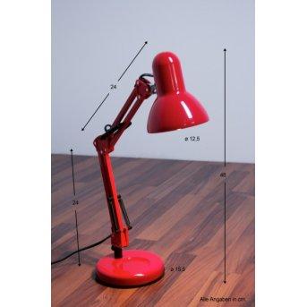 Globo Famous lampka biurkowa Czerwony, 1-punktowy