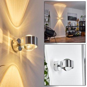 Sapri lampa ścienna Szczotkowany chrom, 1-punktowy