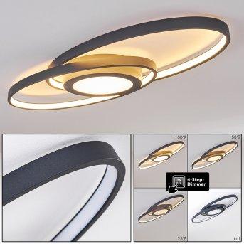 Chunky Lampa Sufitowa LED Siwy, 1-punktowy