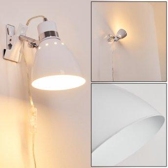 Stranderott lampa z klipsem Biały, 1-punktowy
