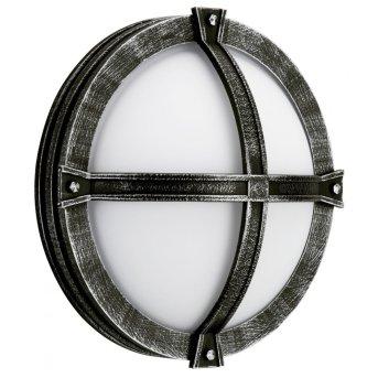 Albert 6230 lampa sufitowa na zewnątrz Czarny, Srebrny, 1-punktowy