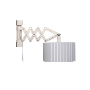 Waldi Stripes XL lampa ścienna Siwy, 1-punktowy