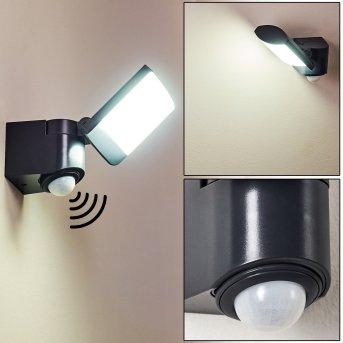 Zewnętrzny kinkiet Larvik LED Antracytowy, 1-punktowy, Czujnik ruchu