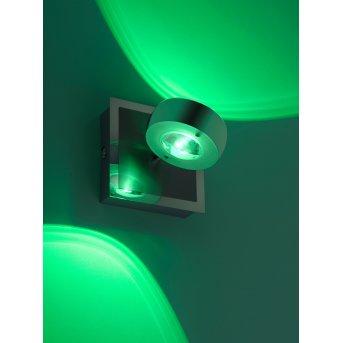 Kinkiet Leuchten Direkt Ls-OPTI LED Stal nierdzewna, 2-punktowe, Zdalne sterowanie, Zmieniacz kolorów