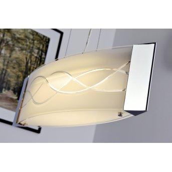 Datong lampa wisząca LED Chrom, Aluminium, 1-punktowy