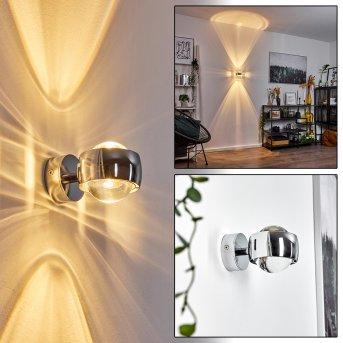 Sapri Lampa ścienna chrom Chrom, 1-punktowy