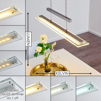 Junsele Lampa Wisząca LED Nikiel matowy, 3-punktowe