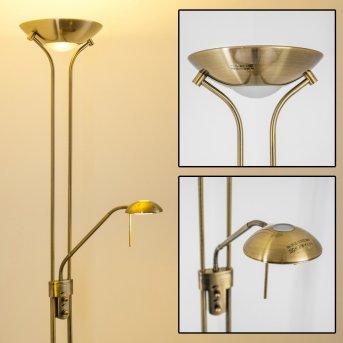 Rom lampa stojąca oświetlająca sufit LED Stary mosiądz, 2-punktowe