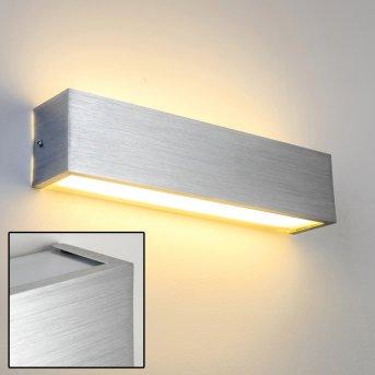 Olbia lampa ścienna LED Aluminium, 1-punktowy