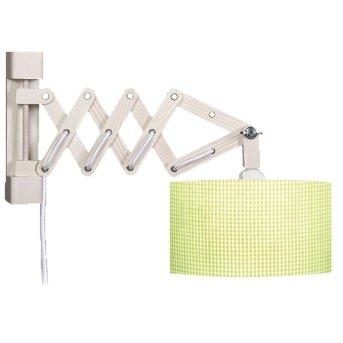 Waldi Schere Vichy Lampa ścienna Biały, 1-punktowy
