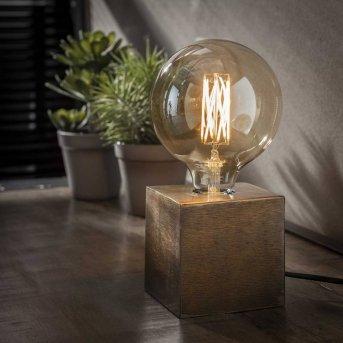 LEMELE Lampa stołowa Brązowy, 1-punktowy