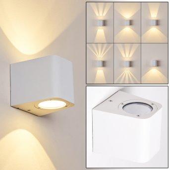 Maputo Zewnętrzny kinkiet LED Biały, 2-punktowe