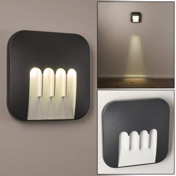 Zewnętrzny kinkiet Silvso LED Antracytowy, 4-punktowe
