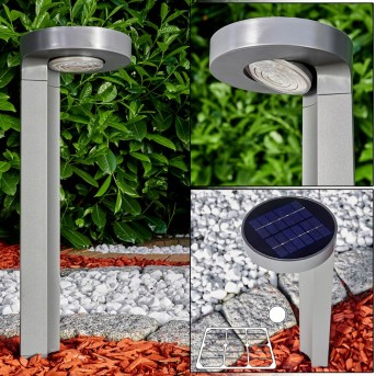 Lampa solarna Portmore LED Siwy, 1-punktowy