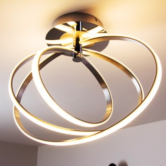 Trio Corland lampa sufitowa LED Chrom, 1-punktowy